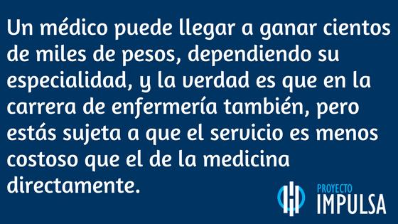 medicina vs enfermeria en mexico